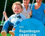 "Flyer ""Mit RegenbogenFamilien neue Wege gehen"""